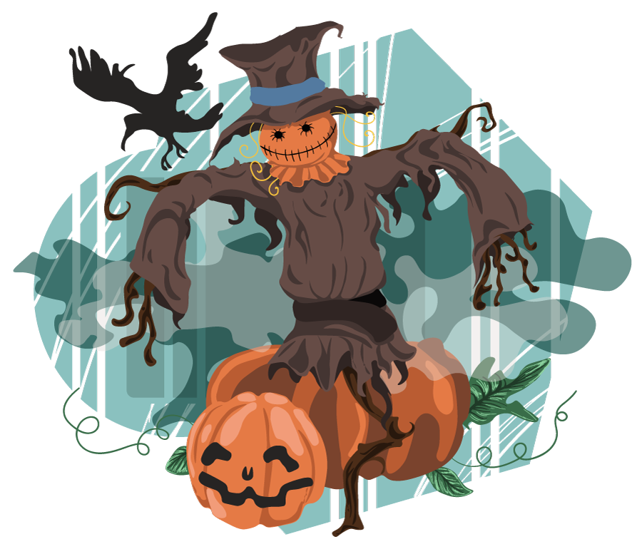 Scarecrow and pumpkin religious clipart clip royalty free download Free Halloween Scene Clipart, 2 pages of free to use images clip royalty free download