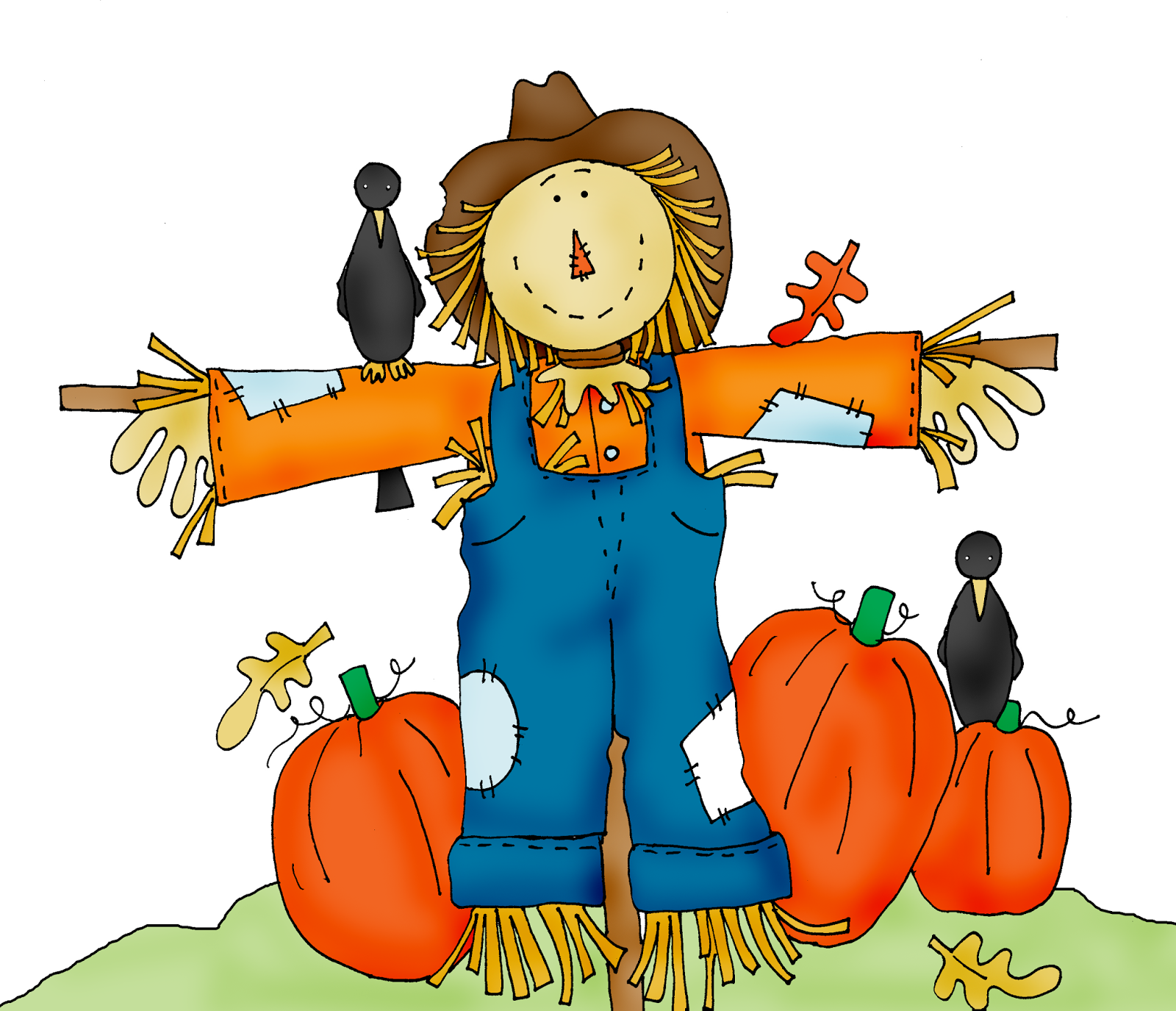 Scarecrow clipart clip black and white library Scarecrow Free Halloween Pumpkin Patch Clipart clip black and white library