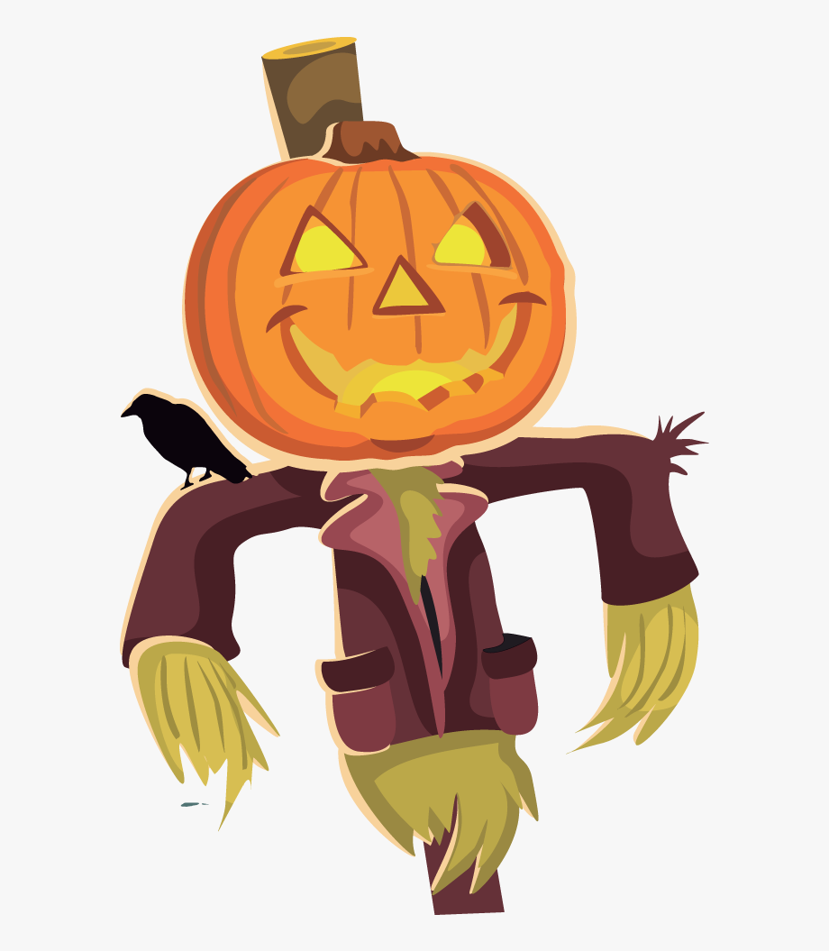 Scarecrow clipart clip freeuse library Scarecrow Clipart - Halloween Scarecrow Clipart #143623 ... clip freeuse library
