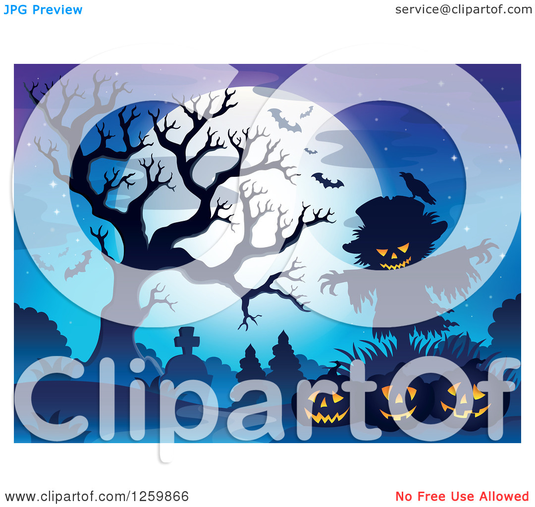 Scarecrow with tree clipart graphic free library Scarecrow with tree clipart - ClipartFox graphic free library