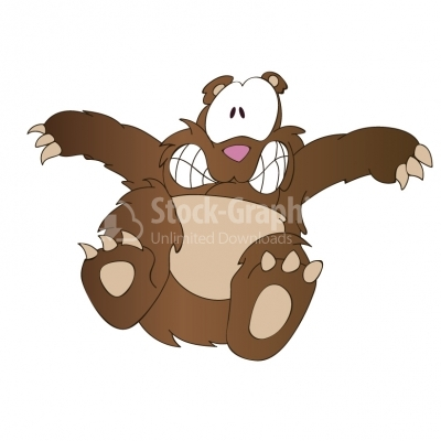 Scared bear clipart jpg black and white download Scared bear cartoon - Characters - Stock Graphics jpg black and white download