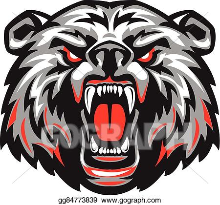 Scared bear clipart clipart free stock Vector Stock - Furious scary bear with an open mouth ... clipart free stock