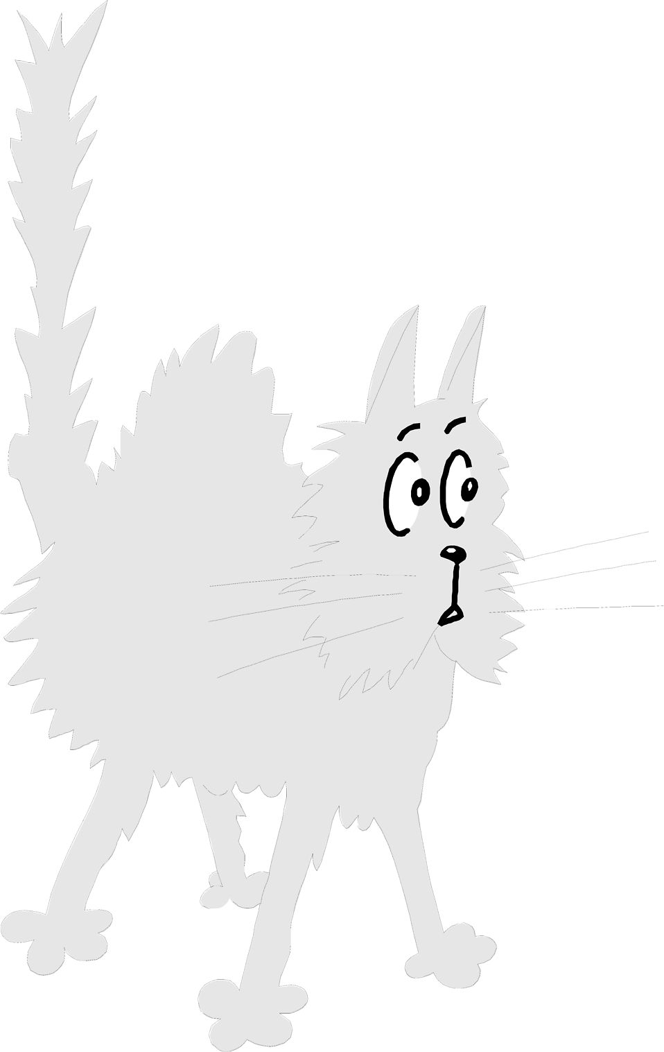 Scared cat clipart clipart free download Cat | Free Stock Photo | Illustration of a cartoon scared cat | # 7143 clipart free download