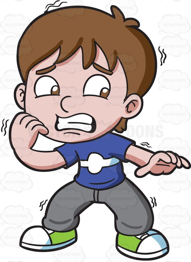 Scared clipart image transparent stock A nervous and scared boy #cartoon #clipart #vector ... image transparent stock