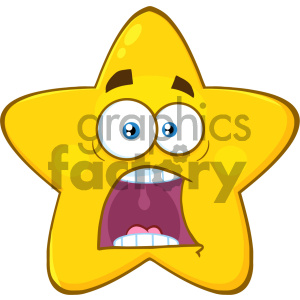 Scared face white background clipart clipart library library Royalty Free RF Clipart Illustration Scared Yellow Star Cartoon Emoji Face  Character With Expressions A Panic Vector Illustration Isolated On White ... clipart library library