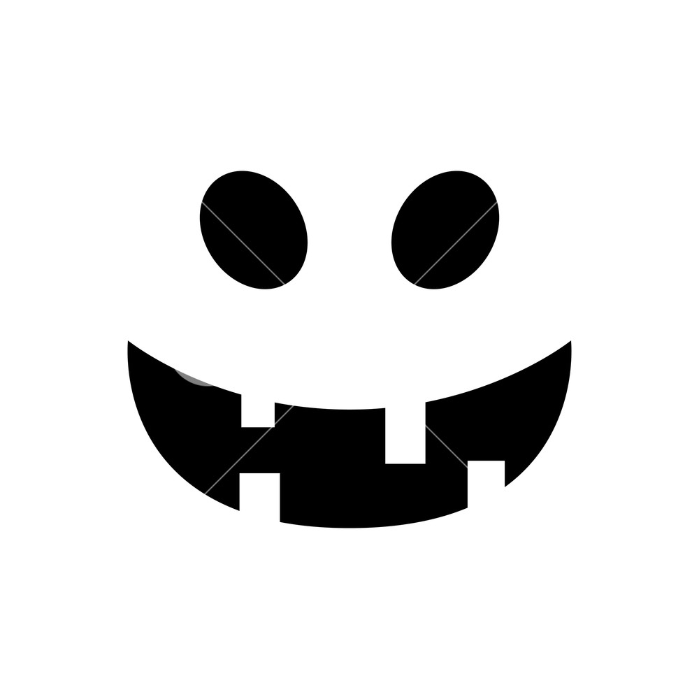 Scared face white background clipart picture freeuse Halloween pumpkin face. Pumpkin smiley face isolated on ... picture freeuse