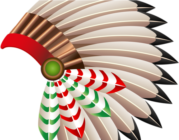 Scared native american indian with spear clipart svg free download Border Clipart Native American - Native American Headdress ... svg free download