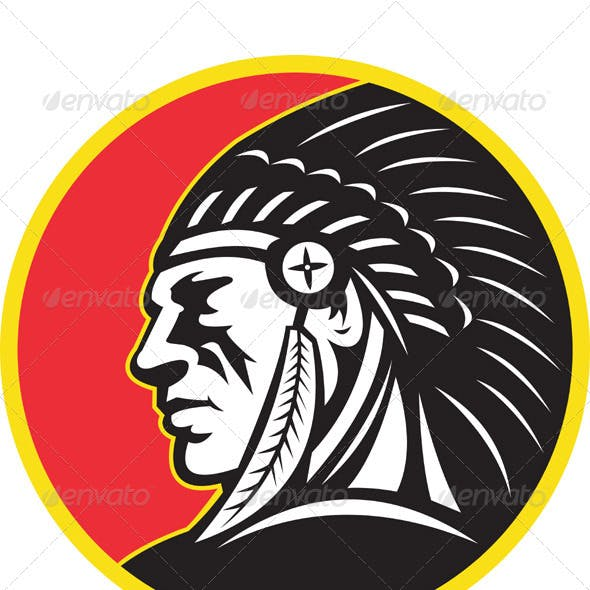 American indian clipart designs vector freeuse Native American Graphics, Designs & Templates from GraphicRiver vector freeuse