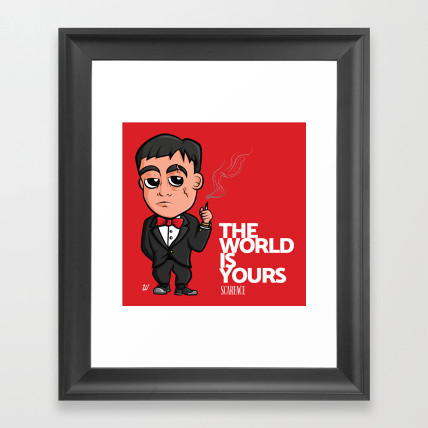 Scarface the world is yours clipart graphic stock Scarface The World Is Yours Framed Art Print graphic stock
