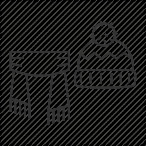 Scarfoutline clipart banner library stock \'Ski. Linear. Outline\' by bsd studio banner library stock