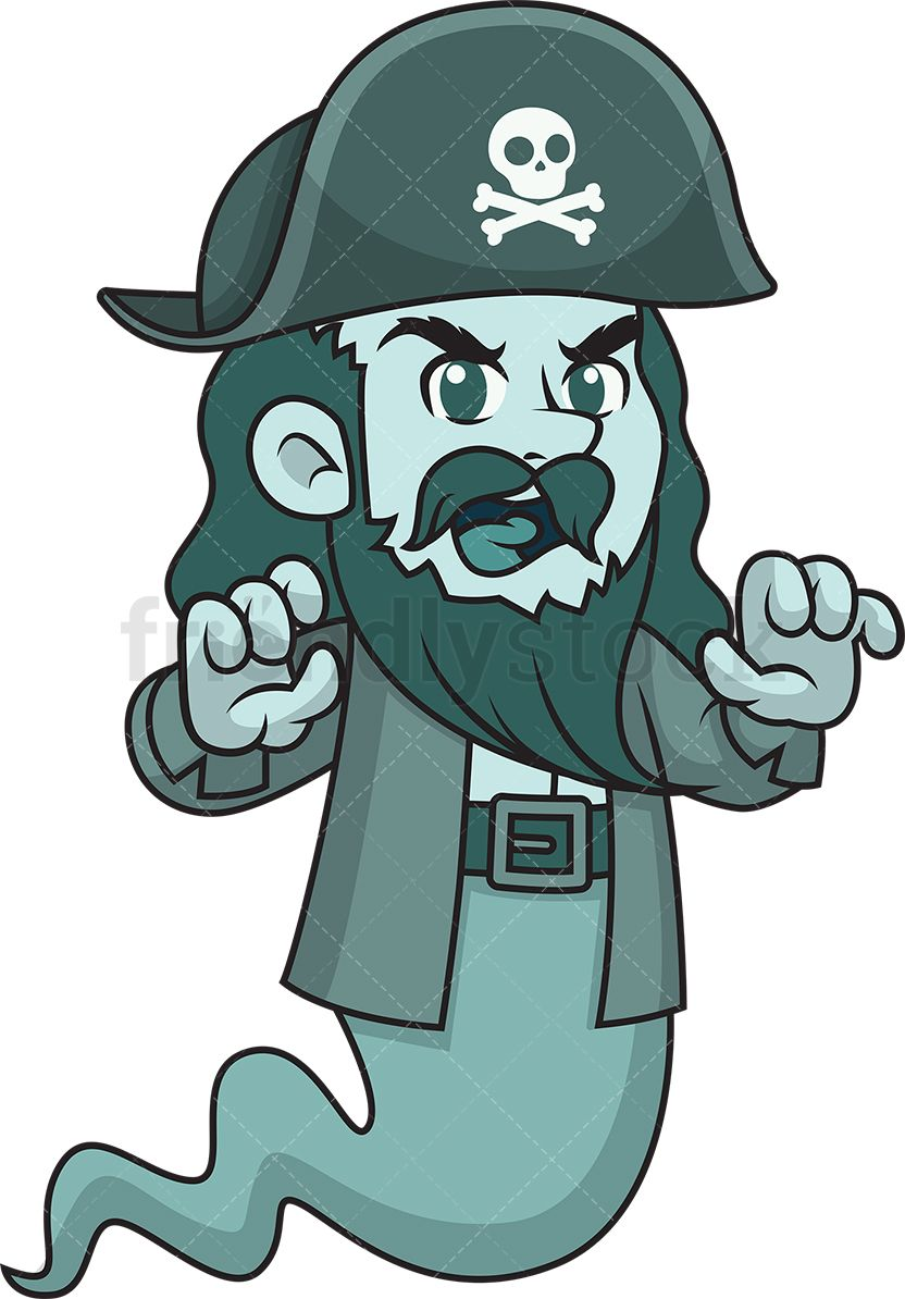 Scaring clipart clipart royalty free library Ghost Pirate Scaring Someone | Vector Illustrations | Ghost ... clipart royalty free library