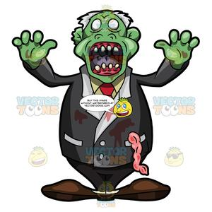 Scaring clipart clip art royalty free stock An Old Zombie Trying To Scare People clip art royalty free stock