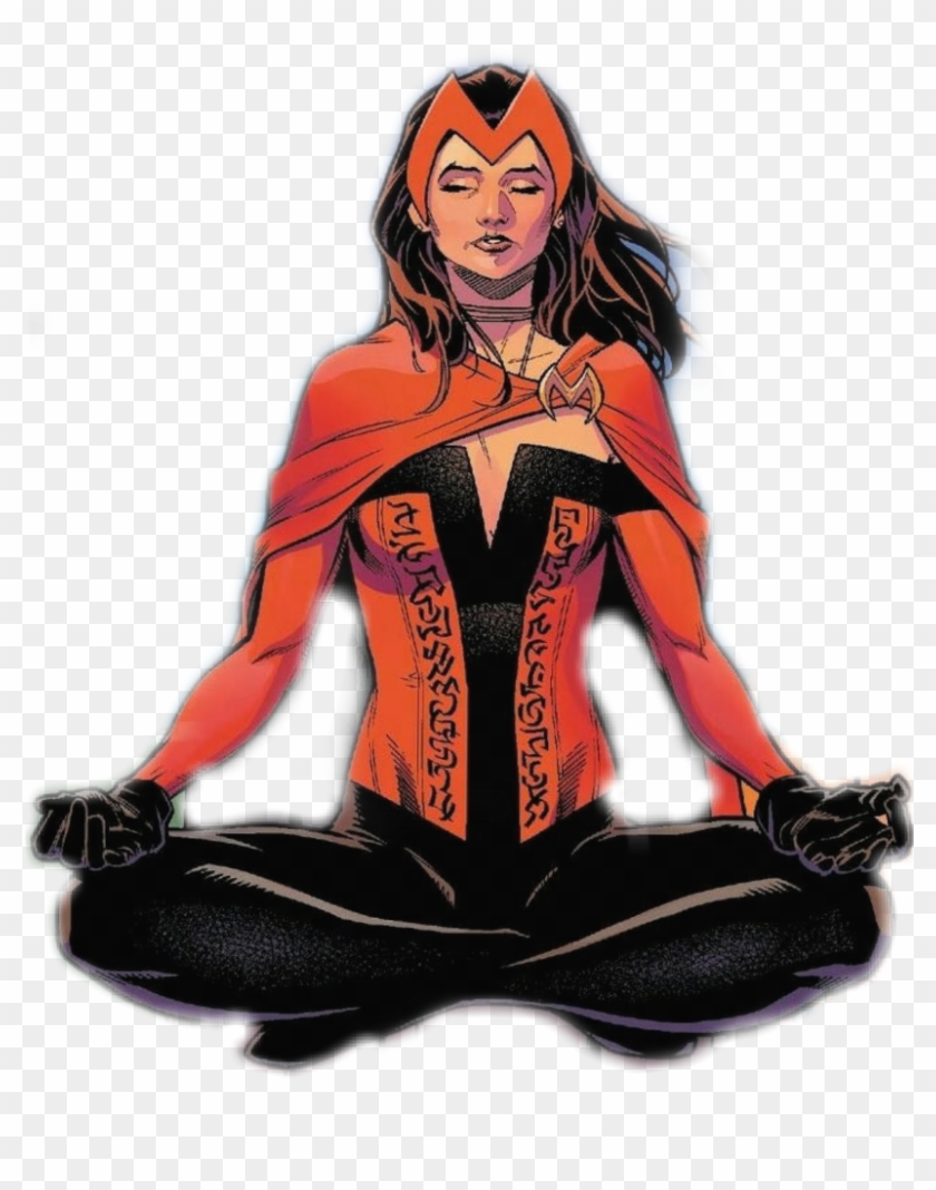 Scarlet witch decal clipart image freeuse download Scarletwitch Sticker - Scarlet Witch Meditating, HD Png ... image freeuse download