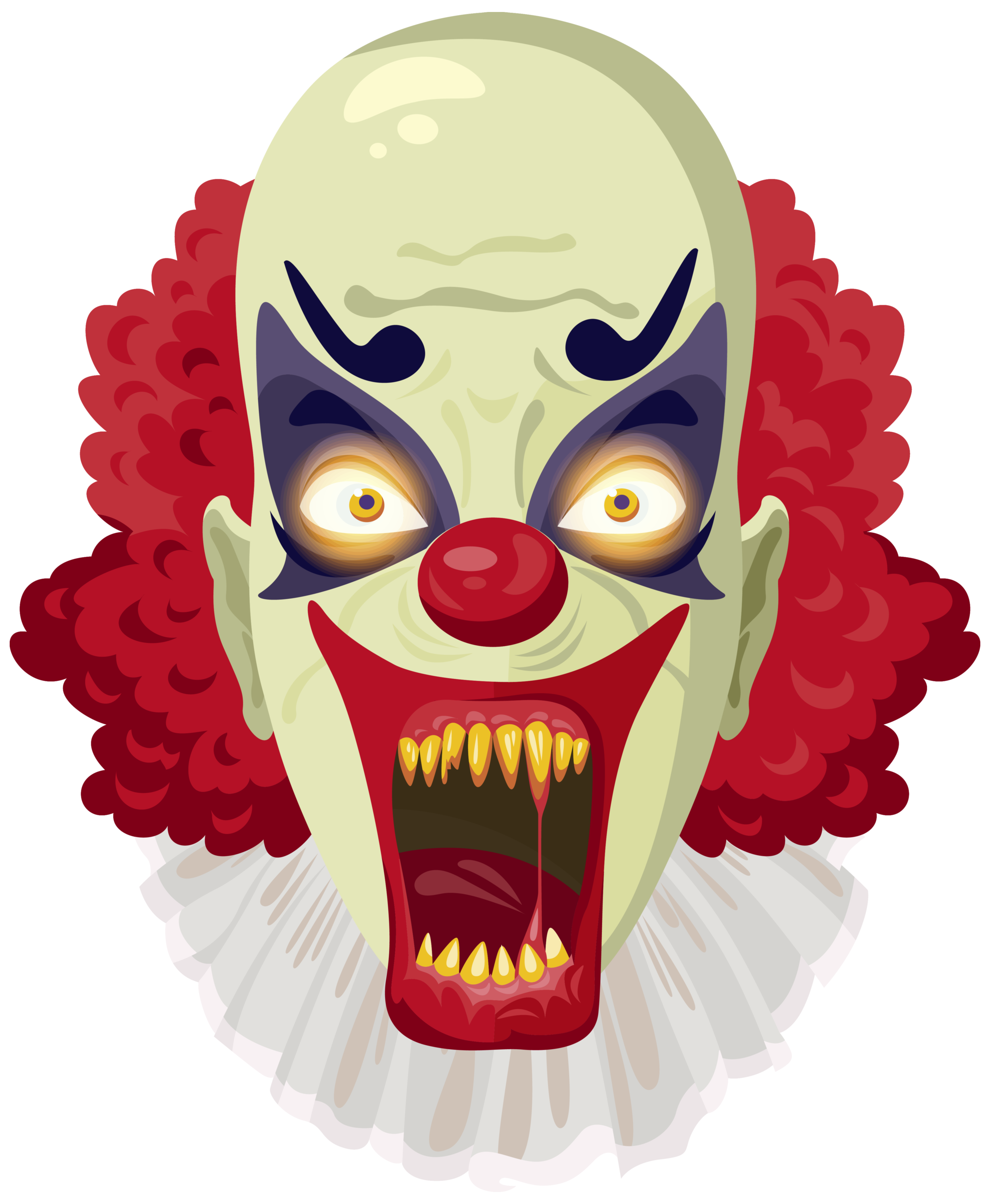 Scary clipart svg black and white stock Scary Clown PNG Clipart Image | Gallery Yopriceville - High ... svg black and white stock