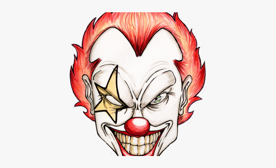 Scary clown clipart clip royalty free Clown Clipart Welcome - Scary Clown Face Png #374081 - Free ... clip royalty free