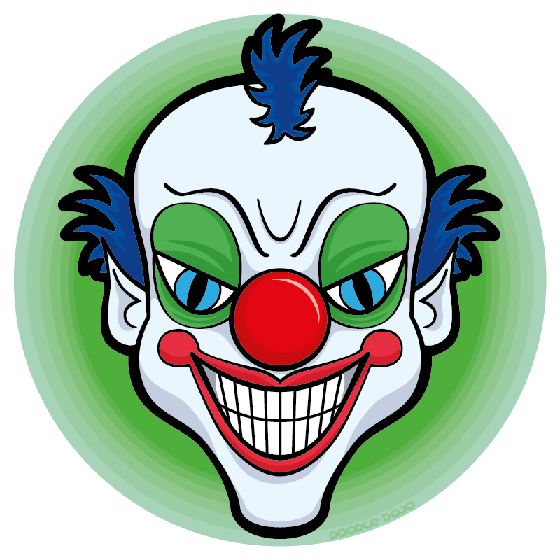Scary clown clipart transparent Scary clown clipart clipart images gallery for free download ... transparent