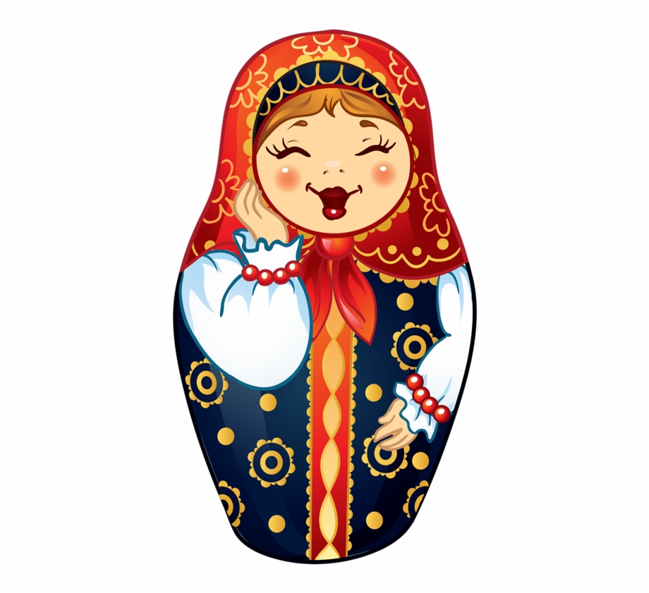 Scary russian doll black and white clipart image transparent stock Matryoshka Doll Png - Russian Dolls Clipart Free PNG Images ... image transparent stock