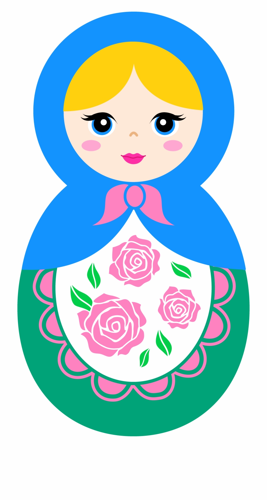 Scary russian doll black and white clipart graphic library library Russian Doll Clipart - Matryoshka Doll Clipart {#1952269 ... graphic library library