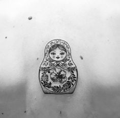 Scary russian doll black and white clipart image royalty free library 20 Best babushka tattoo images in 2015   Doll tattoo ... image royalty free library