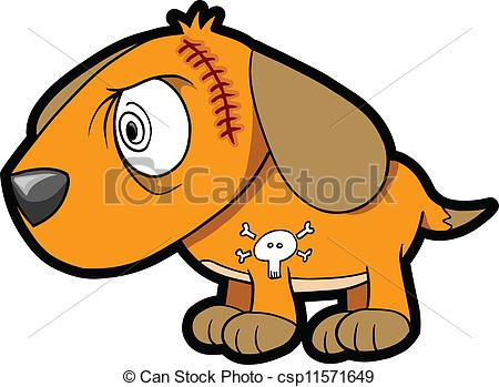 Scary small dog clipart svg library library EPS Vector of Scary Insane Puppy Dog Vector csp11571649 - Search ... svg library library