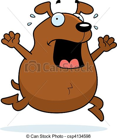 Scary small dog clipart png black and white stock Vector of Dog Panic - A cartoon dog running in a panic. csp4134598 ... png black and white stock