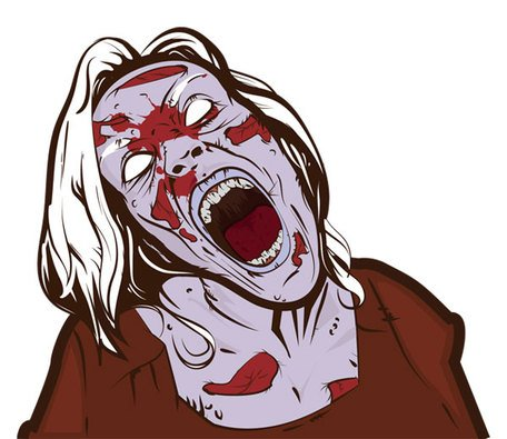 Scary zombie clipart graphic freeuse Free Free Scary Zombie Girl Clipart and Vector Graphics ... graphic freeuse