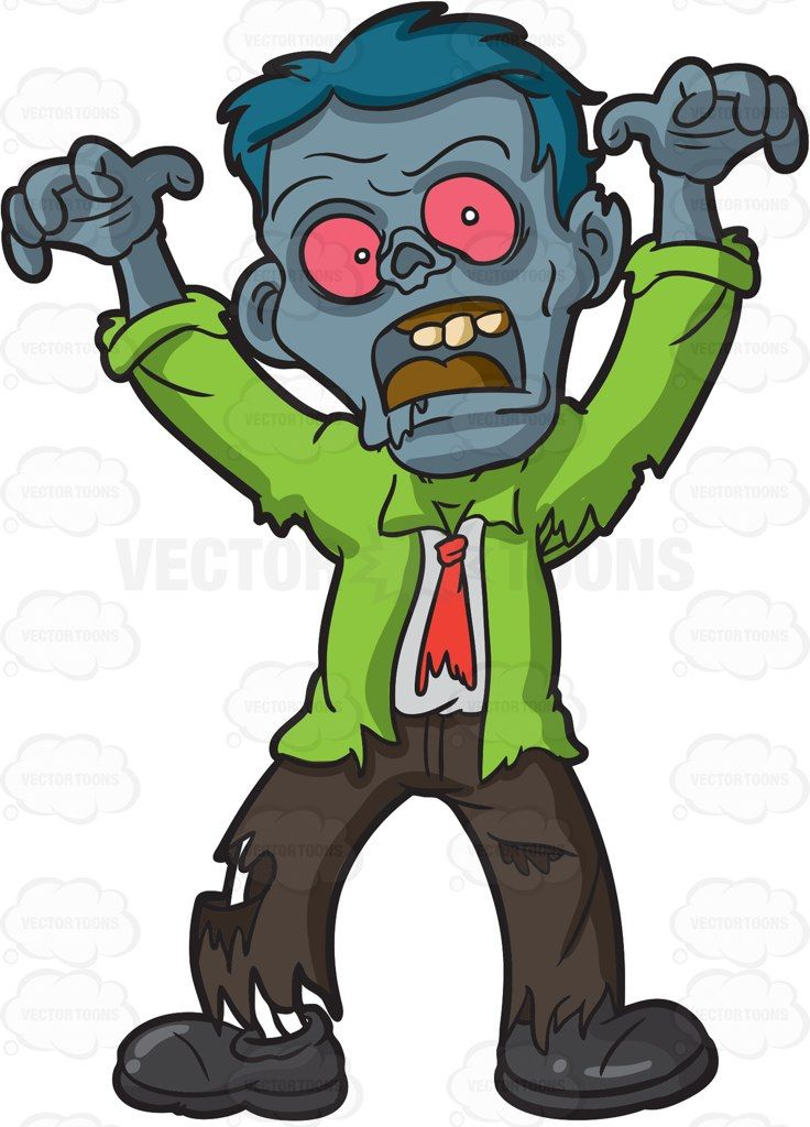 Scary zombie clipart clip library download A scary looking zombie #cartoon #clipart #vector ... clip library download