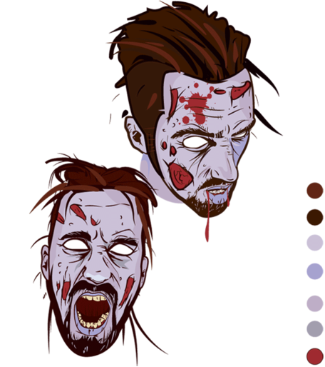 Scary zombie clipart png transparent stock Free Scary Zombie Face Clipart and Vector Graphics - Clipart.me png transparent stock