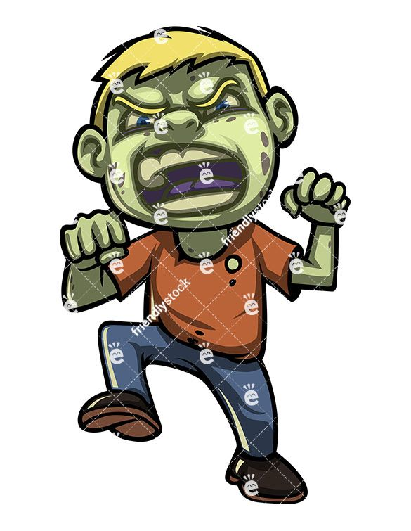 Scary zombie clipart clip library Scary Little Boy Zombie | Black Art | Zombie cartoon, Zombie ... clip library
