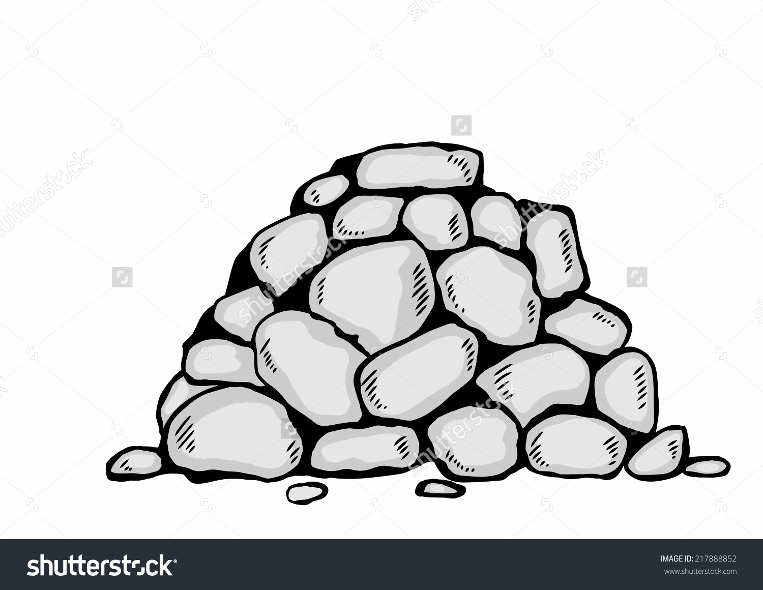 Scatter stones clipart