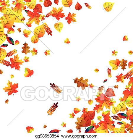 Scattered autumn leaves clipart banner transparent library Clip Art Vector - Autumn leaves scattered background. oak ... banner transparent library