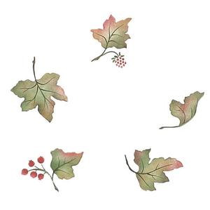 Scattered autumn leaves clipart picture free download Scattered Autumn Leaves Stencil picture free download