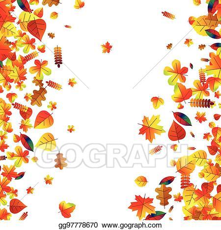 Scattered autumn leaves clipart vector transparent Clip Art Vector - Autumn leaves scattered background. oak ... vector transparent