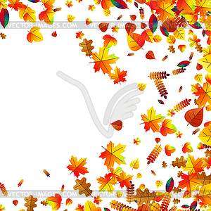 Scattered autumn leaves clipart clipart library Autumn leaves scattered background. Oak, maple and - vector ... clipart library