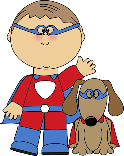 Just a boy and his dog clipart boarders clipart library download Free Super hero Clip Art Borders | Superhero and Dog Clip ... clipart library download