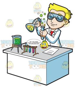 Scentists at work clipart image black and white download A Scientist Creating A Chemical Reaction image black and white download