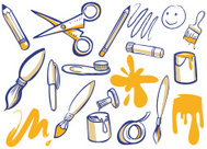 Schere und kleber clipart image royalty free download Kunst Klebstoff UND Schere Symbol premium clipart - ClipartLogo.com image royalty free download