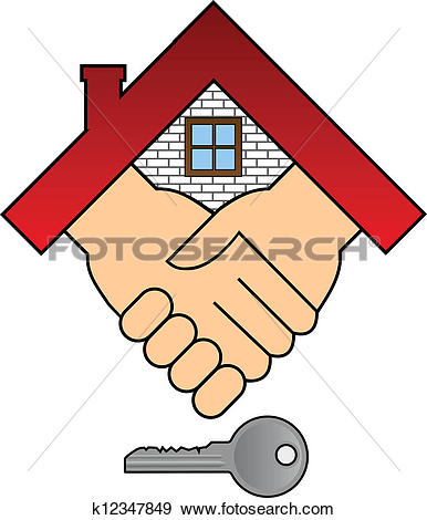 Schlssel haus clipart transparent Clip Art of Buying a house - concept k12347849 - Search Clipart ... transparent