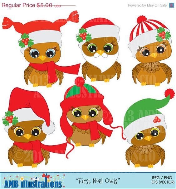 Schmeckt gut clipart vector free download Christmas Clipart, Christmas Owl Clipart, Baby Owls Clipart ... vector free download