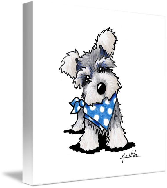 Stinky dog clipart png free stock Schnauzer In Dots