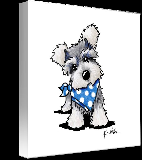 Schnauzer dog confirmation clipart svg transparent download Schnauzer In Dots
