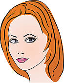 Schne frau clipart image black and white Clipart - schöne frau, gesicht k14148850 - Suche Clip Art ... image black and white