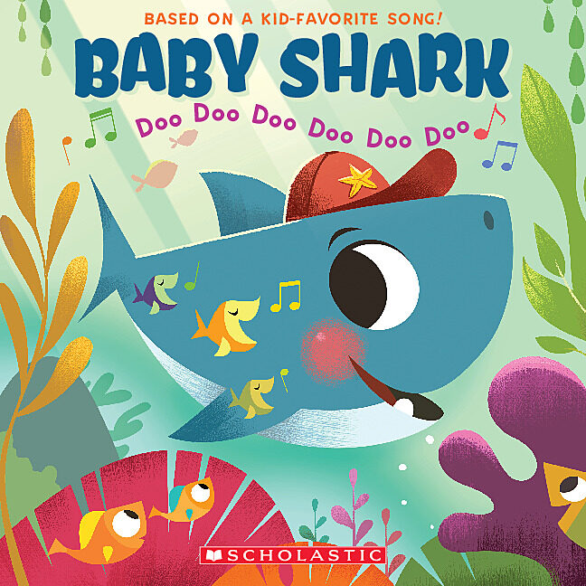 Scholastic book fair under the sea clipart black and white stock Baby Shark by Scholastic - Paperback Book - The Parent Store black and white stock