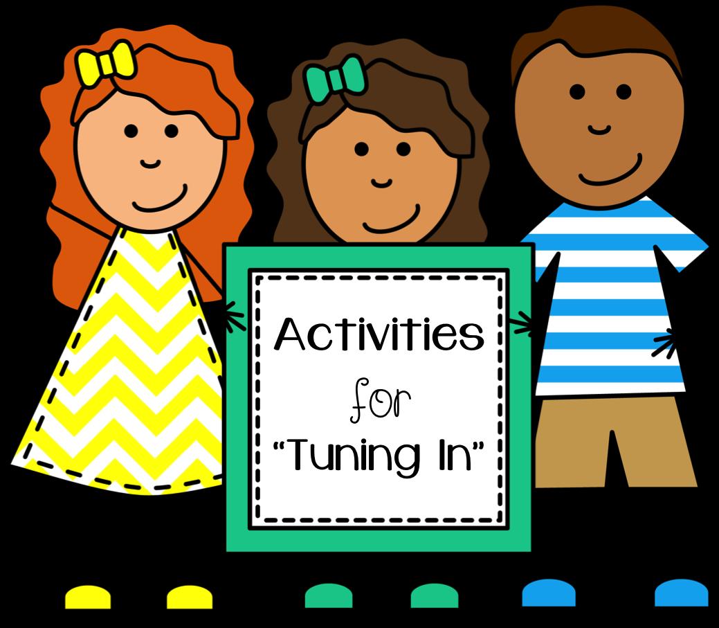 School activities clipart vector free Tuning In