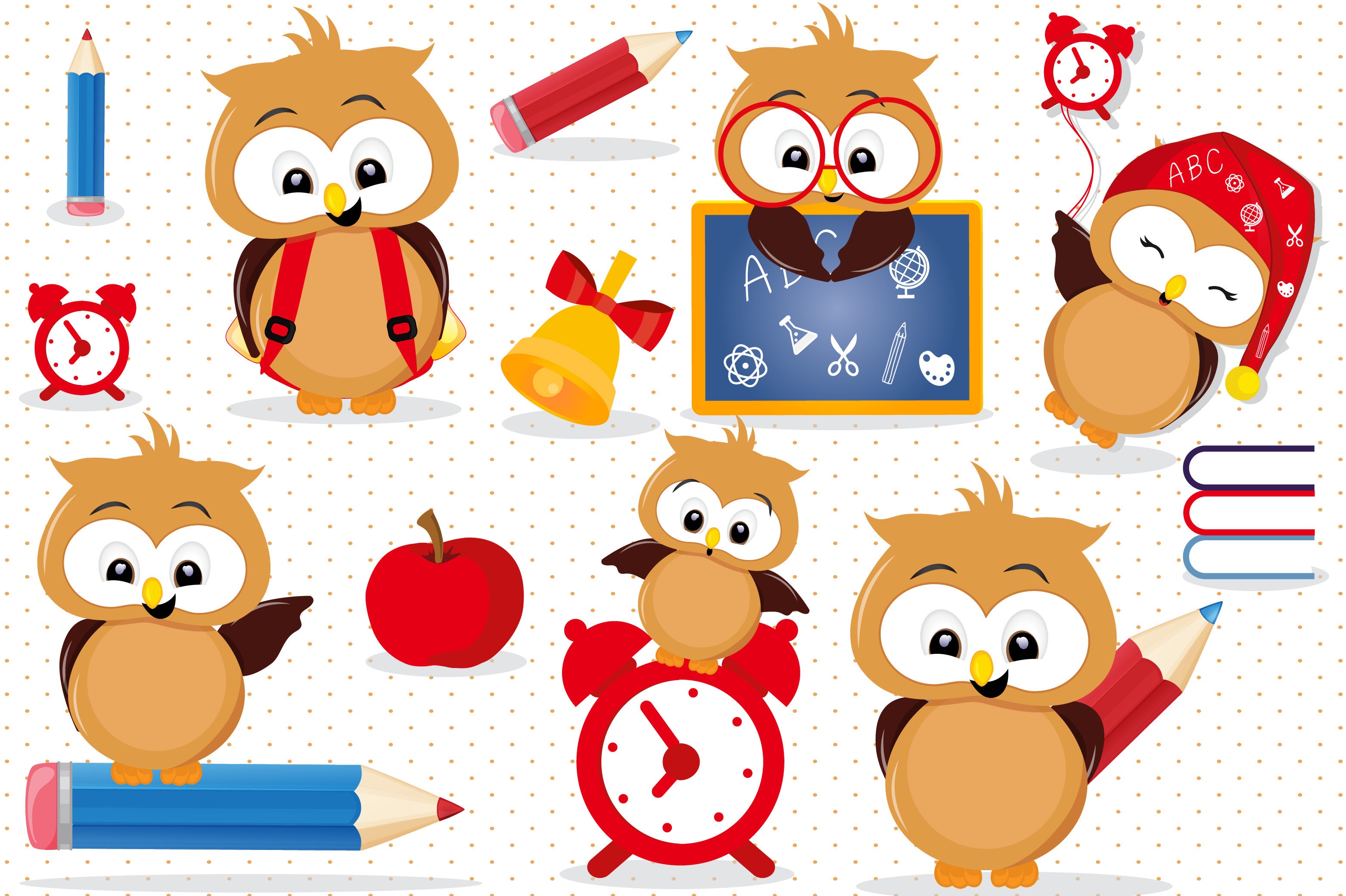 School animal clipart image free stock Back to school Owls clipart, Back to school Owls graphics image free stock
