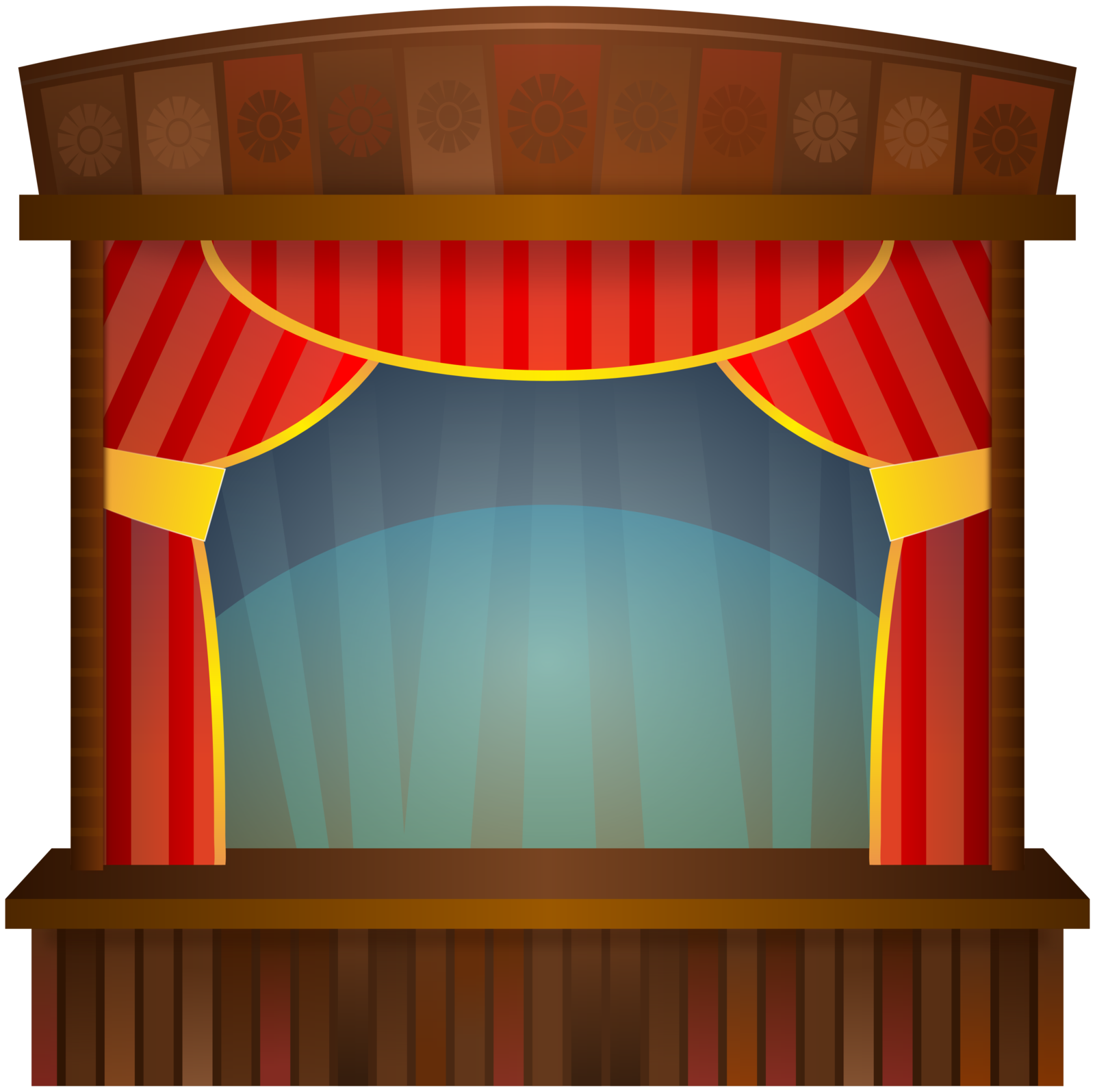 School auditorium clipart graphic black and white Stage Clip Art Images | Clipart Panda - Free Clipart Images graphic black and white