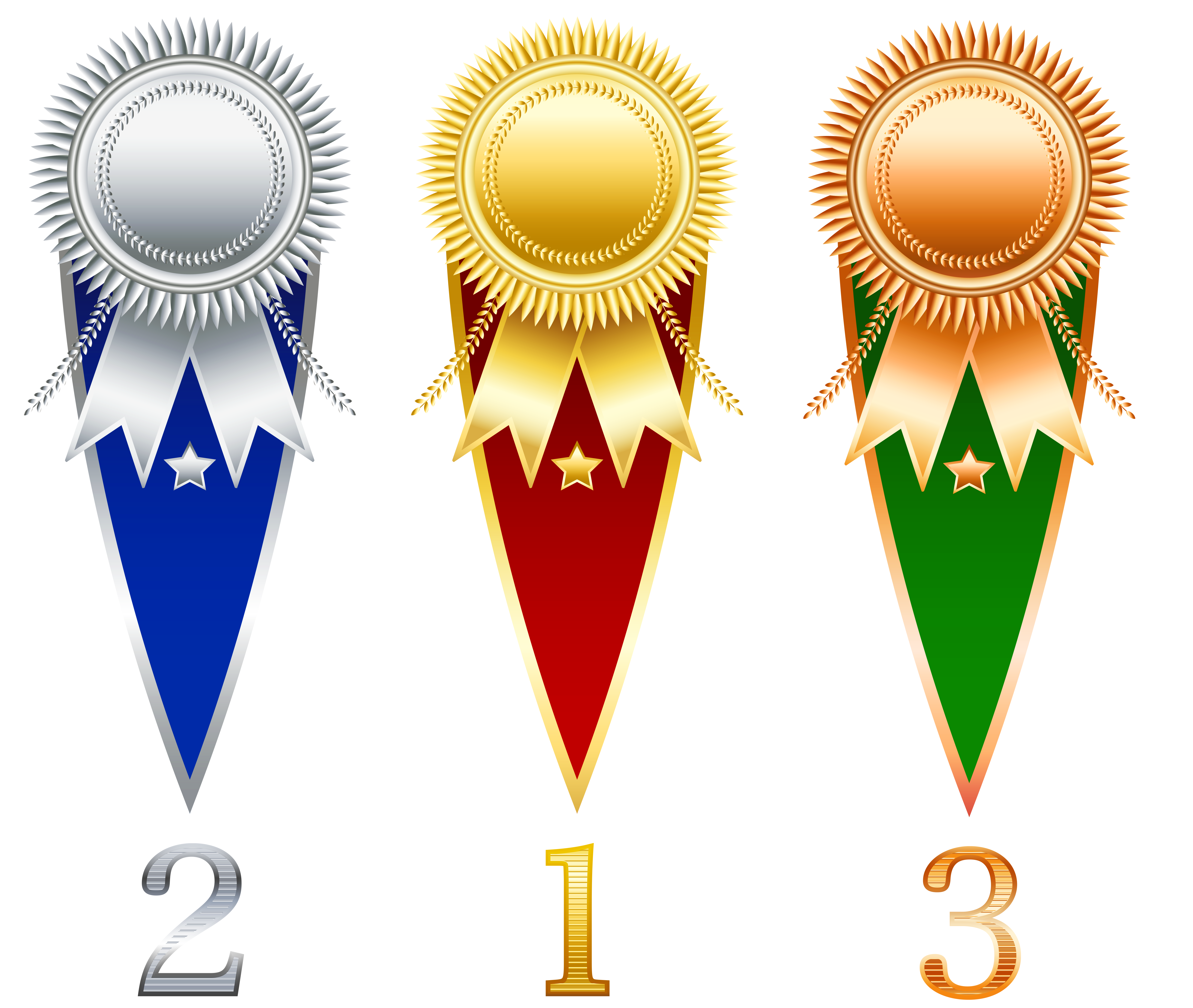 Rosette Prize Set Transparent PNG Clipart | Gallery Yopriceville ... graphic library