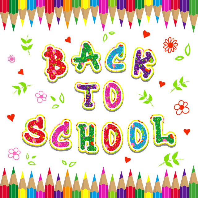 Back To School Background Clipart | Background Slide Images HD jpg black and white stock