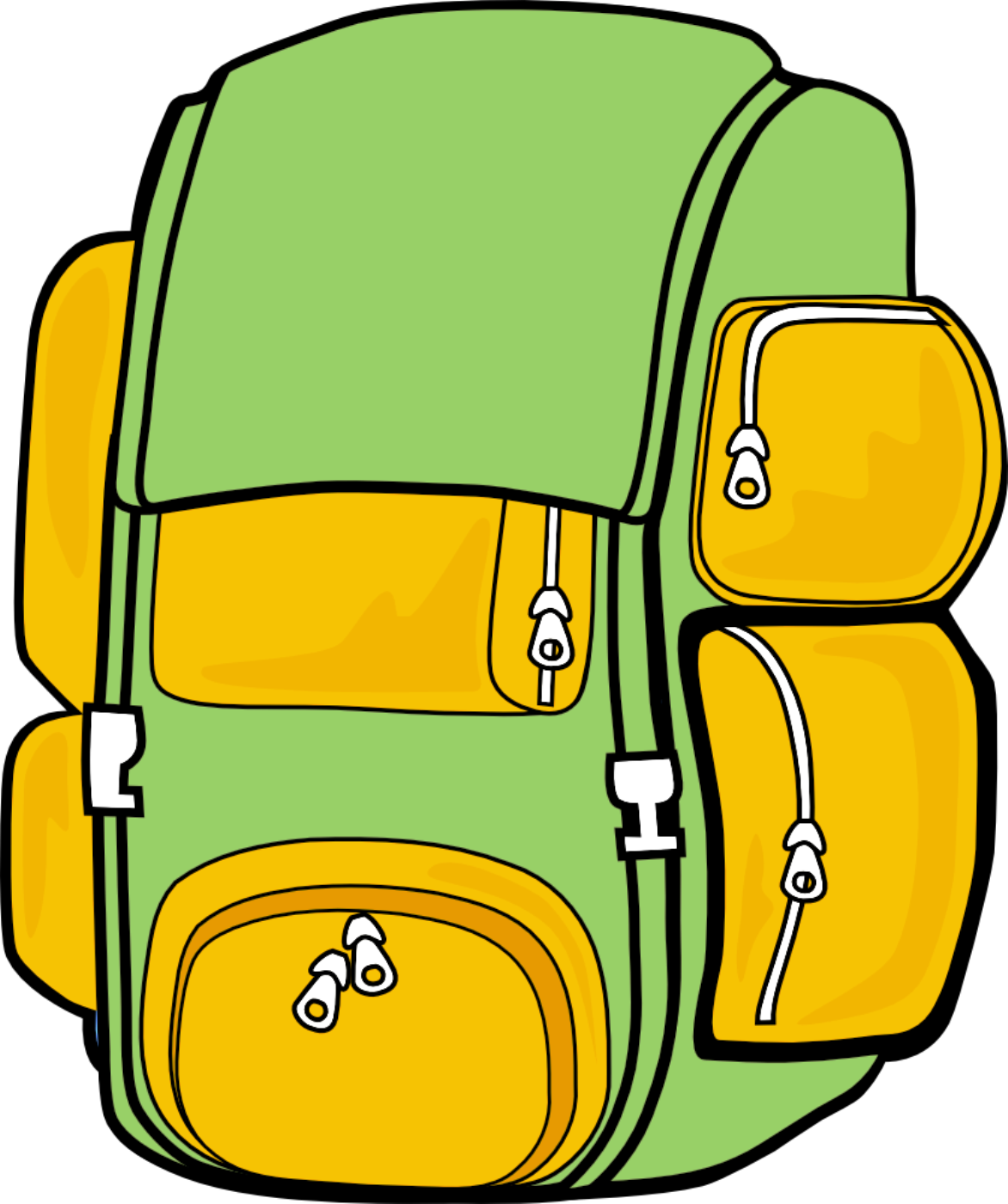 School backpack clipart picture black and white stock Backpack clipart beautystars - Clipartix picture black and white stock