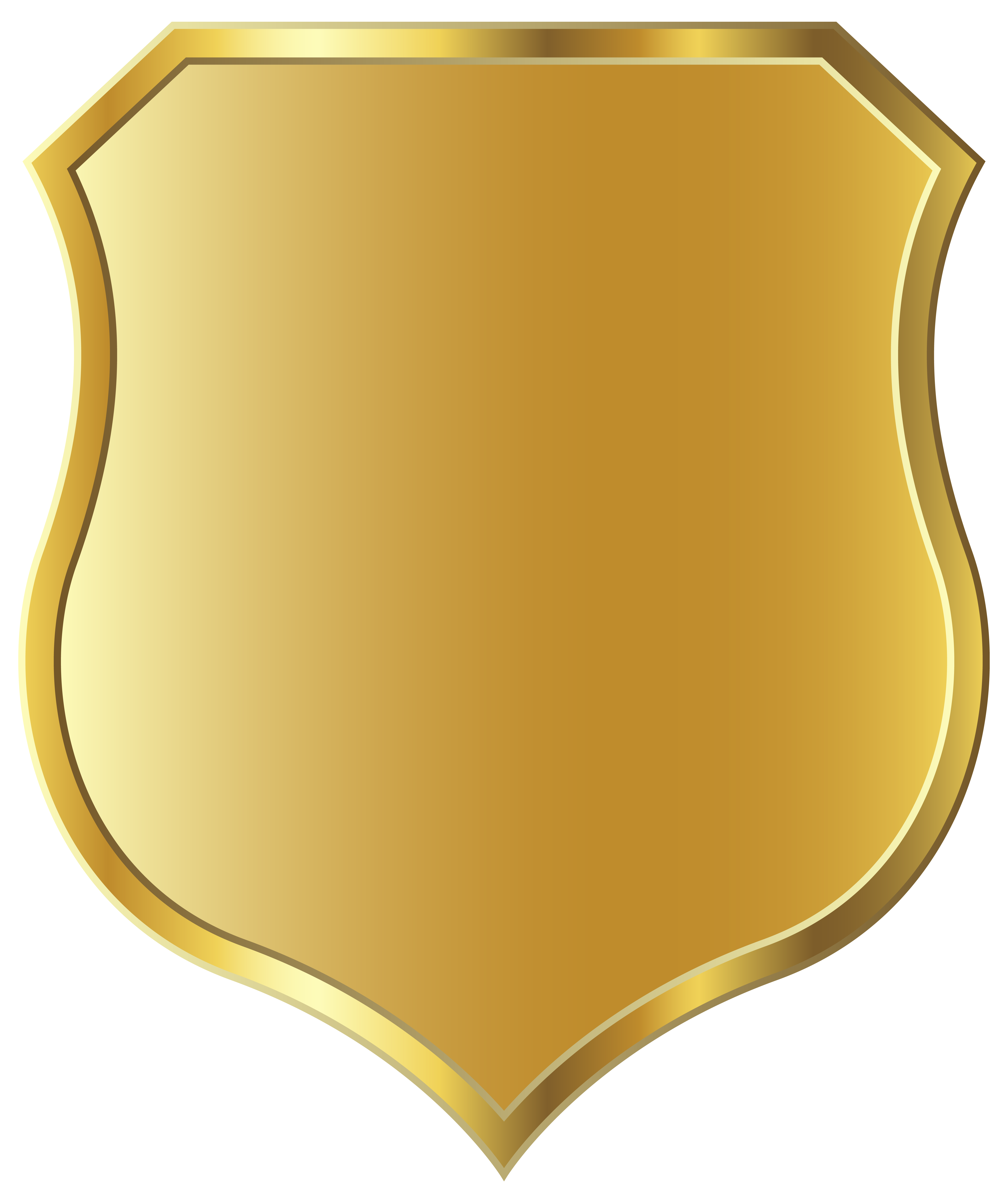 Golden Badge Template PNG Clipart Image | Gallery Yopriceville ... svg black and white library